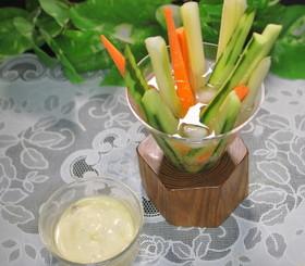 バーニャカウダ風ディップで野菜スティック