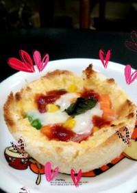 食パンで☆マルゲリータ風パンキッシュ
