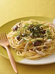 食感楽しい♪3種きのこのたらこスパゲティの写真