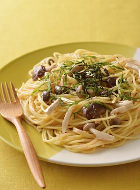 食感楽しい♪3種きのこのたらこスパゲティ