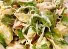 レタス、大葉、蟹カマのマヨポン酢サラダ