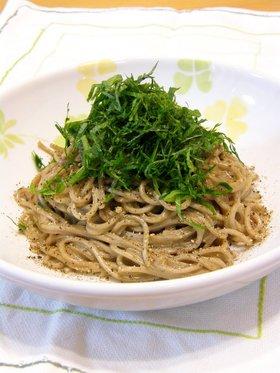 お蕎麦を使って♪超簡単で美味しい!和風パスタ