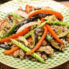 黒胡椒香る♪牛肉と野菜のオイスター炒め