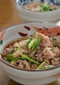 簡単!お肉でつゆも美味な関西風うどん