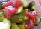 アボカド マグロ 胡瓜のわさび和え