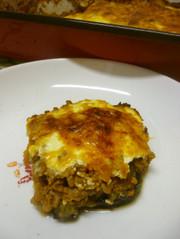 夏のごちそう、ギリシャ料理ムサカの写真