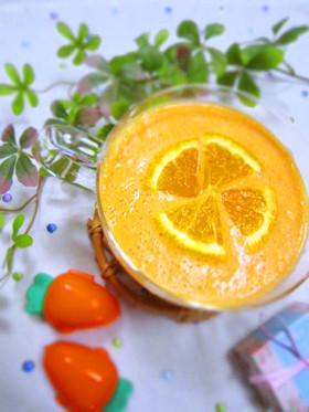 ♥オレンジ色のヨーグルトスムージー♥