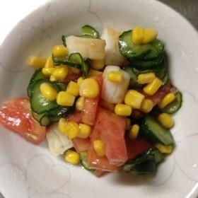 簡単!角切りトマトのサラダ♪