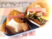 冷凍焼きおにぎりdeライスバーガーの写真