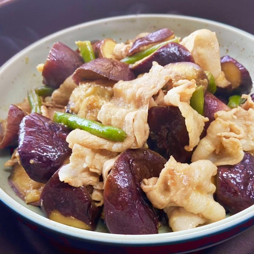 焼肉のタレ&味噌★激ウマ・茄子の味噌炒め