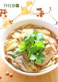 簡単♫ほっこり優しい味✿鶏南蛮うどん✿