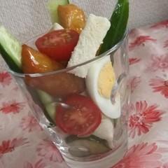 パフェ&サラダ風ふんわり食パン