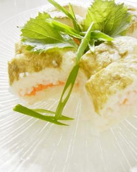涼しげ押し寿司 お盆