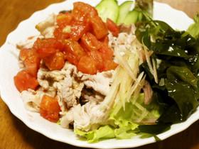 夏の豚シャブトマトサラダ♪