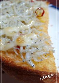 簡単♪美味しい♪ しらすトースト
