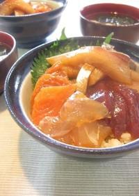 オッサンの韓国風味な海鮮丼