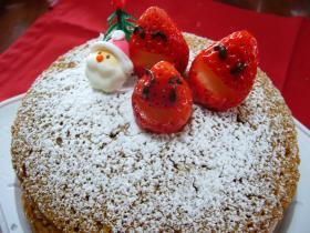 for KIDS☆卵ナシ!ココアのクリスマスケーキ♪