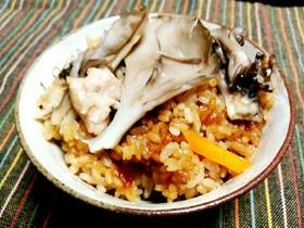 秋☺舞茸と鶏肉の炊き込みごはん