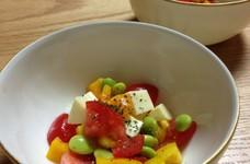 枝豆とパプリカのコロコロサラダ