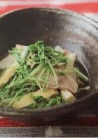 豚と水菜の煮物