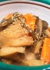 干し芋茎(ズイキ・芋がら)と車麩の煮物