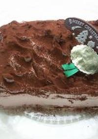 チョコレートクリームのスクエアケーキ