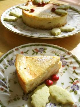 りんごのチーズケーキ クリスマスバージョン