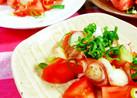 トマトとみょうがの和風サラダ♪