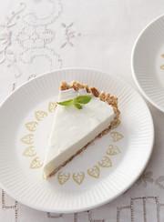 レアチーズ風ヨーグルトケーキの写真
