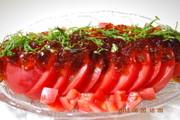 ポン酢ジュレのトマトサラダの写真