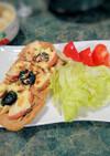 プルーンと林檎とアーモンドのピッツァ