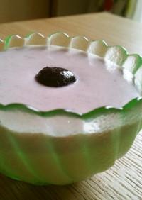 簡単☆豆乳&ジャム入りレアチーズケーキ