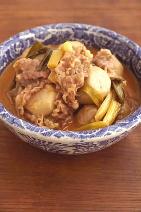 牛肉と里芋の韓国煮