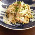 鮭とごぼうのクリームパスタ