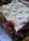 金時豆とゴマきな粉チーズトースト
