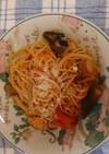 お鍋一つで 茄子とシーフードのスパゲッテ