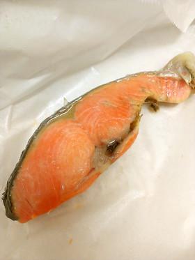 時短&洗い物無し!鮭のレンジ焼き お弁当