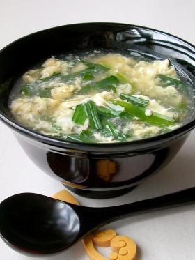 ニラ中華スープ