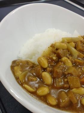 高野豆腐と大豆のカレー