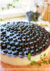 ブルーベリー♡レアチーズケーキ