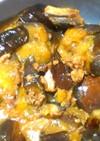なすびとサバの水煮缶の煮物