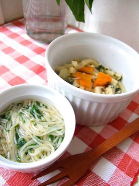 離乳~幼児食♪つるつるモロヘイヤ麺