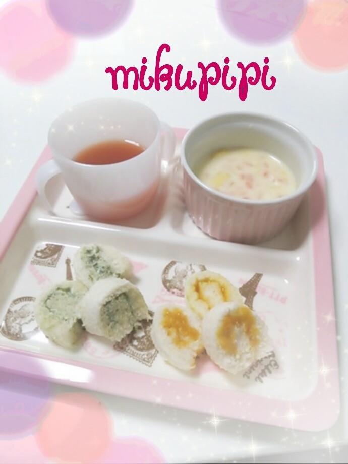 【離乳食】食パンdeロールサンド