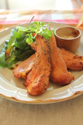 簡単にできる鶏ササミの燻製