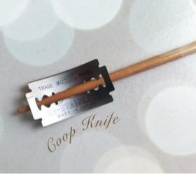 自分でクープナイフ作っちゃぉ♪