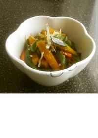 彩り野菜とジャコのきんぴら
