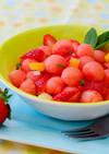 スイカと苺のサラダ