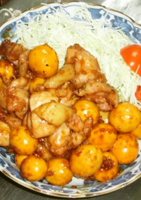 鶏もも肉と若鶏きんかんの炒め煮