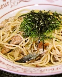 秋刀魚のペペロンチーノ♪