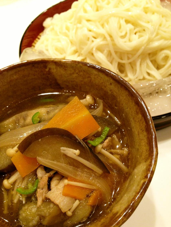 野菜たっぷりのつけ麺(冷麦)
